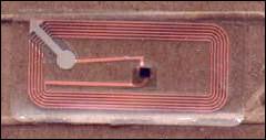 RFID tag en una Gillette Mach3
